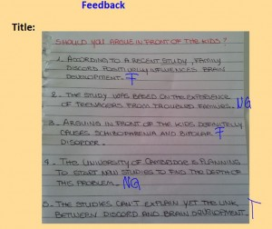 feedback student made quiz board shot