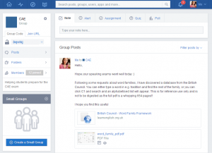 edmodo cae screen