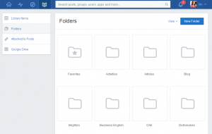edmodo library screen